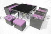 MAGIC DUO PE Rattan Sofa Set 7P Outdoor Furniture Waterproof CE