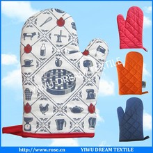 custom high quality promotional cotton kitchen oven glove