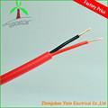 2コア赤と黒のpvc照明柔軟なラウンドケーブル