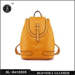 Korea Fashion Elegant Design Double Strap Leather Casual Backpack Bag For Girl