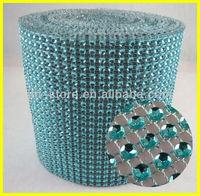 LT.sapphire 10 Yards 24 Rows Plastic Rhinestone Table Runner