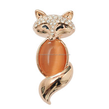Professional manufacture wholesale 2015 top seller brooch jewelry charming fox resins brooch