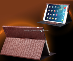360 Degree Rotating Stand Case With Auto Sleep Feature Leather Case For IPad 5