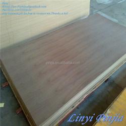 Natural veneer plywood walnut/teak