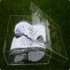 online store tablet acrylic shoe display case for nike shoe