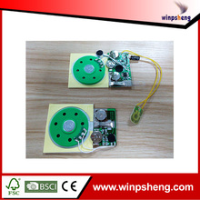Sound module midi/programmable sound module for greeting card