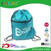 190T or 210T nylon personized sports polyester zipper drawstring bag