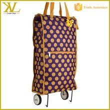 Rolling Shopping Tote Bag, Cheap Waterproof Foldable Trolley Shopping Bag