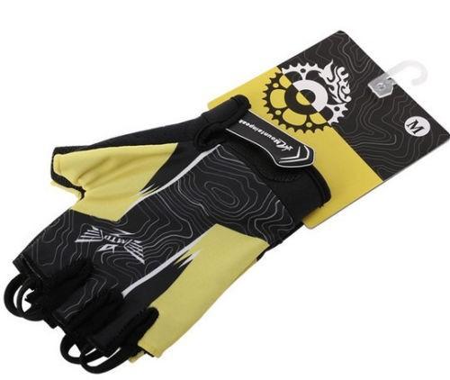 Открытый Велоспорт мода велосипед велосипедов лайкра спортивные гель ладони площадку мужчин & женщин половина finger перчатка ag2014-l