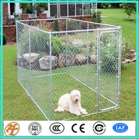 outdoor backyard removable galvanized metal kennel dog run fence panels
