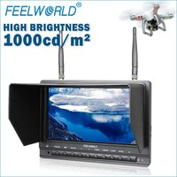 New Feelworld 7 inch antiglare matte screen Wireless FPV TFT LCD Diversity Receiver Monitor 1000cd/m drone delivery