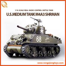 Nuevo 1/16 del Control de Radio Sherman militar tanque Rc RC24173898