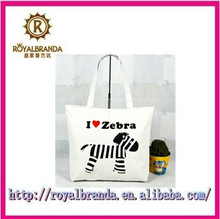 wholesale shopping bag handbag for childred simple bag print zebra