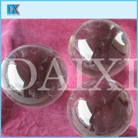 Decorative beautiful clear solid glass ball