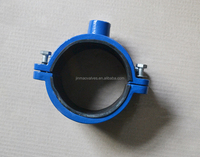 ACS and CE manufacturer epoxy resin coating ductile iron saddle