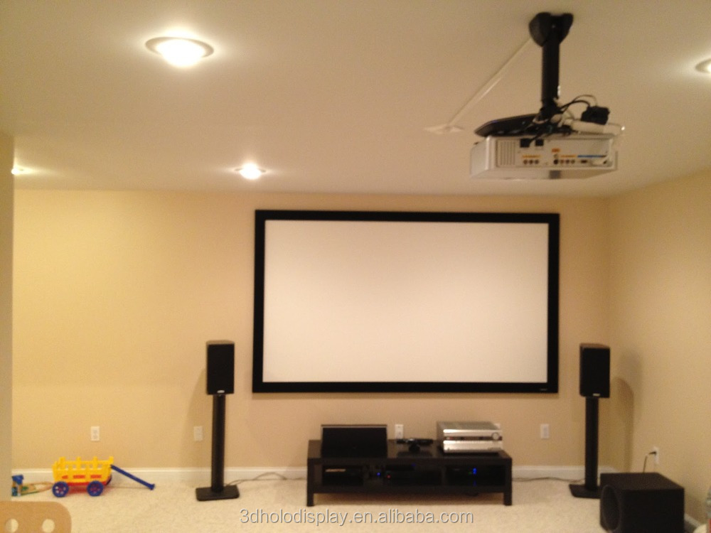 Fixed Frame Projector Screen Wall Mount Fixed Frame Projection ...