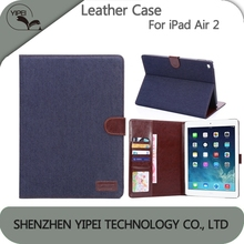 Phone Case For Apple iPad Air 2 Flip Case Denim Pattern Flip Leather Case Back Cover For iPad Air 2