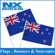 2015 hot selling new product 100%polyester hand flag with pvc flagpole