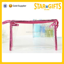 Wholesale pvc beauty cosmetic bag pvc mini cosmetic bag clear pvc bag