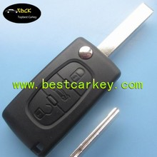 New arrival 3 buttons flip remote key 434 MHz ID46 Chip for peugeot 307 remote key