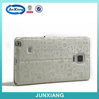 China alibaba mobile phone Leather case cover for samsung note 4