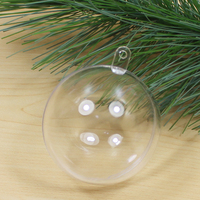 shatterproof clear plastic christmas balls charming OEM opening christmas bauble / ball