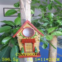 Eco-friendly Resin Decorative Hanging Bird House