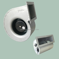 Silent Small High cfm Sirocco Squirrel Cage Extractor Turbo Industrial Exhaust Radial Centrifugal Fan Blower 230V AC 12 Volts dc