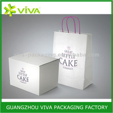 Luxury birthday food packaging box for cake and pie