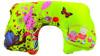 Custom cute microfiber pvc inflatable travel neck pillow