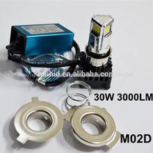 Tres de sus lados 10-30v 30w 3000lm led de la motocicleta kit de luces, led 30w los faros de la motocicleta