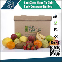 Factory packaging supplier popular wholesale customized corrugated fruit carton box