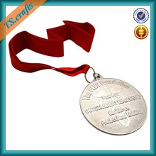 Handmade metal medal silver finish make your own medal for souvenir