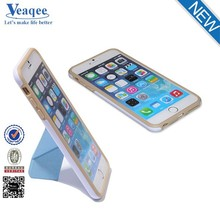 Veaqee New hot standing combo 2 in 1 pu+tpu case for iphone 6s