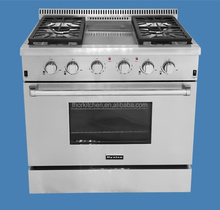 CSA Approval Stainless Steel Freestanding Gas Range/ Gas Cooker with 4 burners