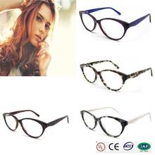 2015 high quality tortoiseItaly designer fashion bright color cat eye acetate frame optical frames optical eye glasses