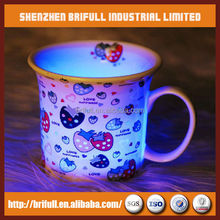 alibaba china manufacturer custom porcelain cup led flashing cup