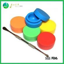 Non stick jars dab wax butane hash oil silicone customized bho oil container