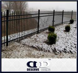 Rustproof galvanized metal garden decoration fence/ iron picket fence