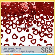 Red heart engagement wedding decoration confetti