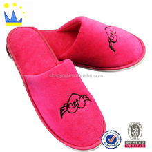 2015 cotton for new product embroidery logo promotion wedding sandal