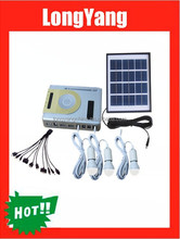 4W solar panel 1W LED light portable solar home system with radio ,MP3 player for indoor