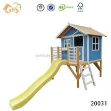 Outdoor wooden eco-friendly kids playhouse furniture