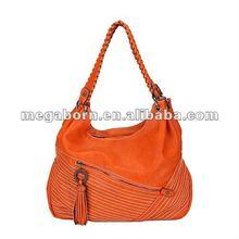 Braid Handle Soft Handmade Genuine Leather Handbag