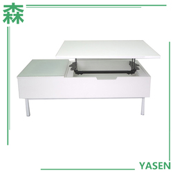 Yasen Houseware Wooden Table With Glass Top Computer Table Up And Down Coffee Table