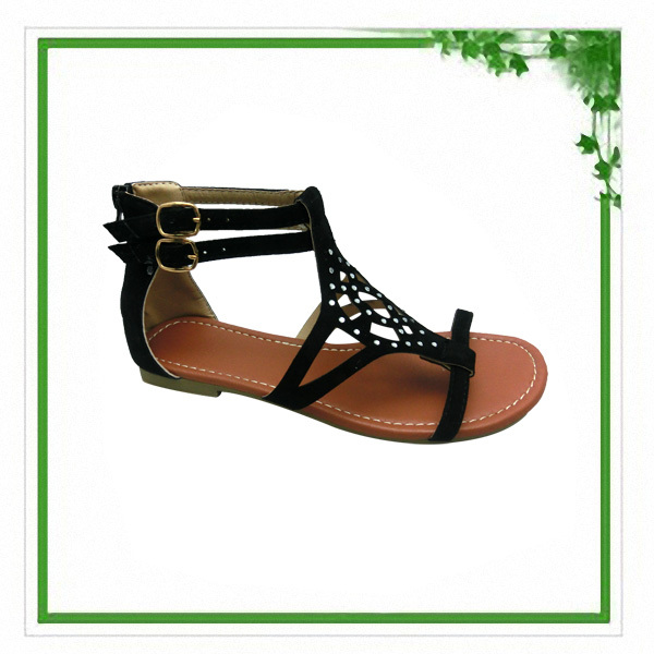2014 New Style Women Size Fashion High Top Flat Sandals Shoe