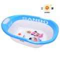 sanbo de bebé de plástico populares bañera de alta quilty chidren de ducha bañera 003