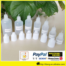 Alibaba manufacturer wholesale 30ml pe empty plastic e liquid bottle kids top colored essention oil bottle for women