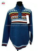 Mode homme 2015 vêtements. long- manches col haut pull en tricot pour hommes