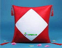 Sublimation Diamond Shape Pillow Cover,Blank Pillow Case - Red